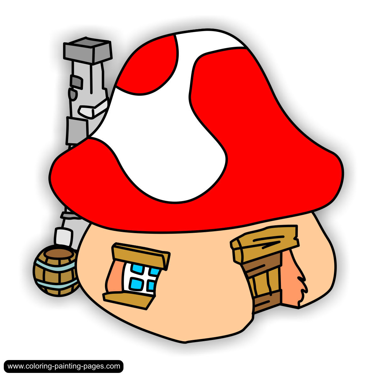 coloring pages smurfs free downloads